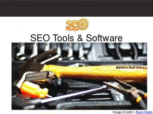 SEO Tools & Software – SEO Meetups Presentation June 2013